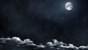 Night Sky Moon Desktop