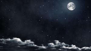 Night Sky Moon Desktop