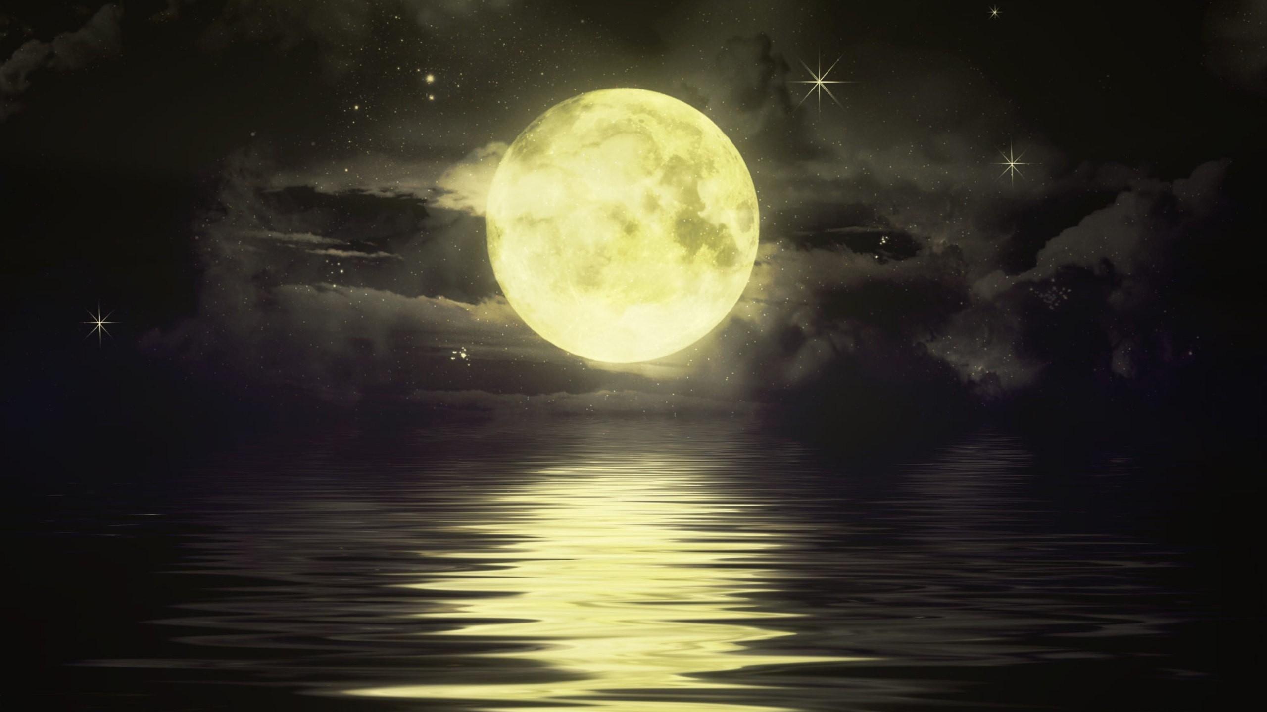 Night Sky Moon Hd