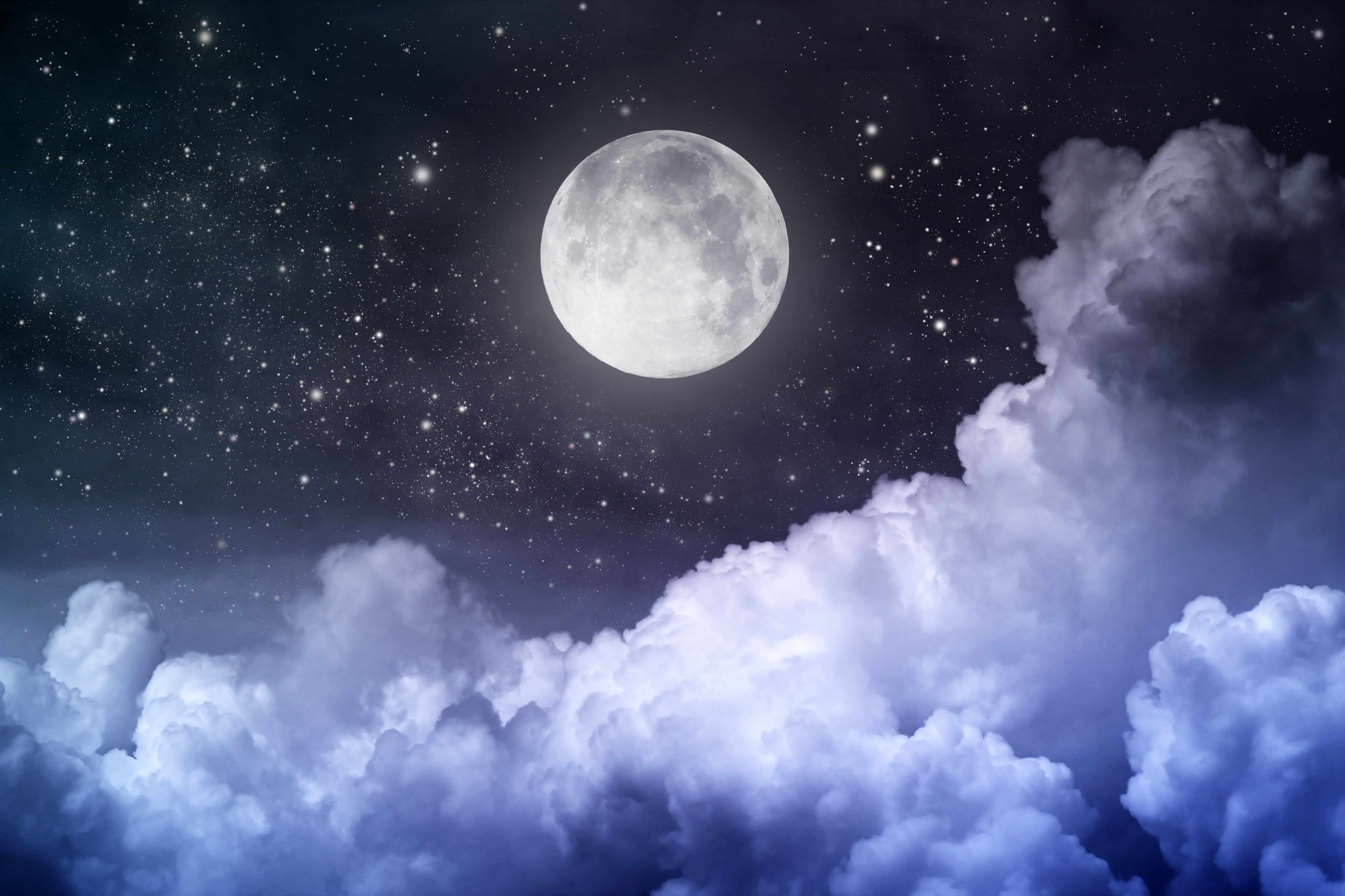 Night Sky Moon High Definition Wallpapers