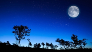Night Sky Moon Images