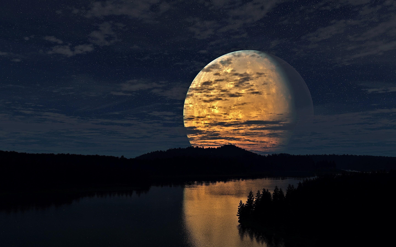 Night Sky Moon Wallpaper