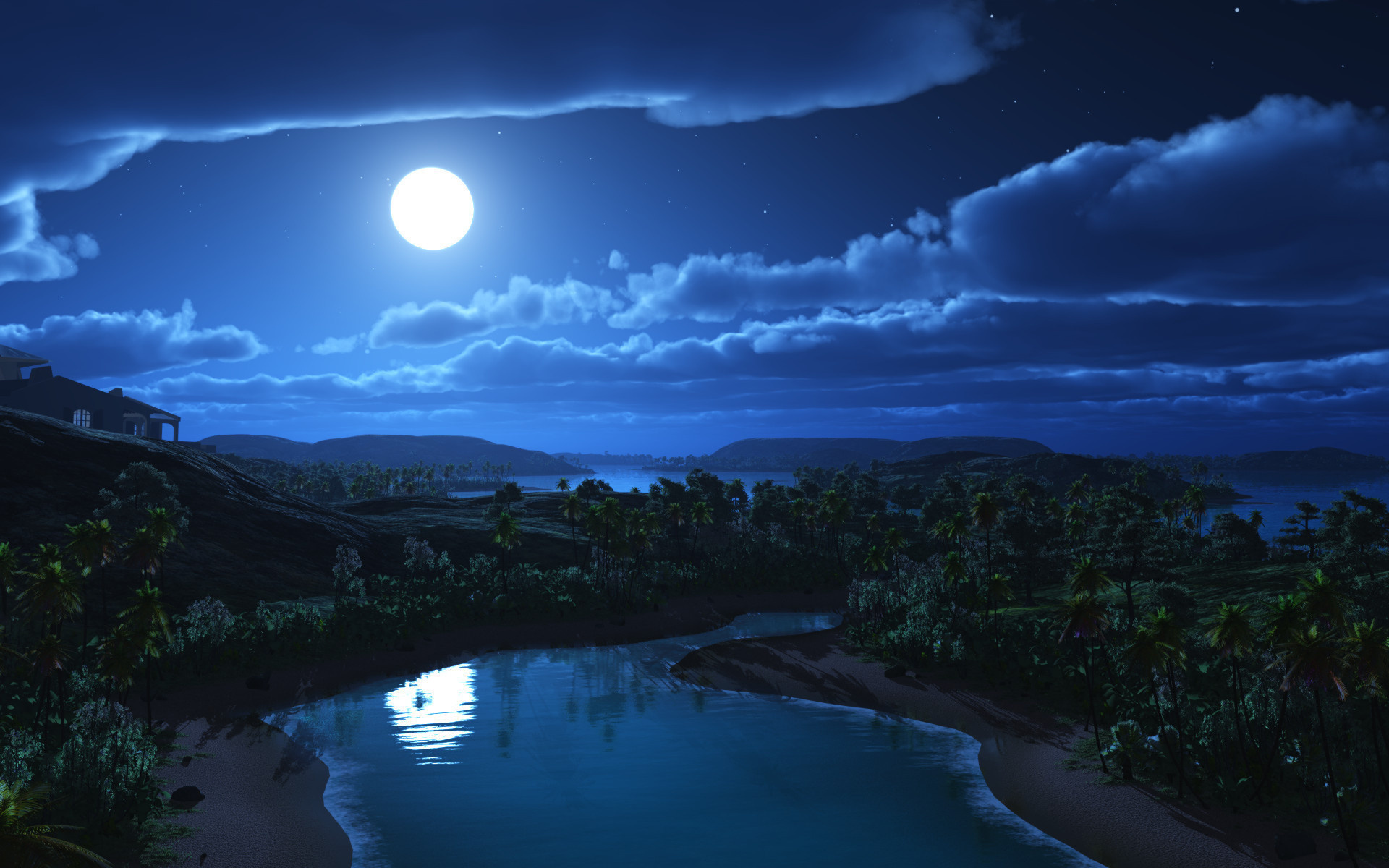 Night Sky Moon Wallpapers