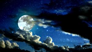 Night Sky Moon Widescreen