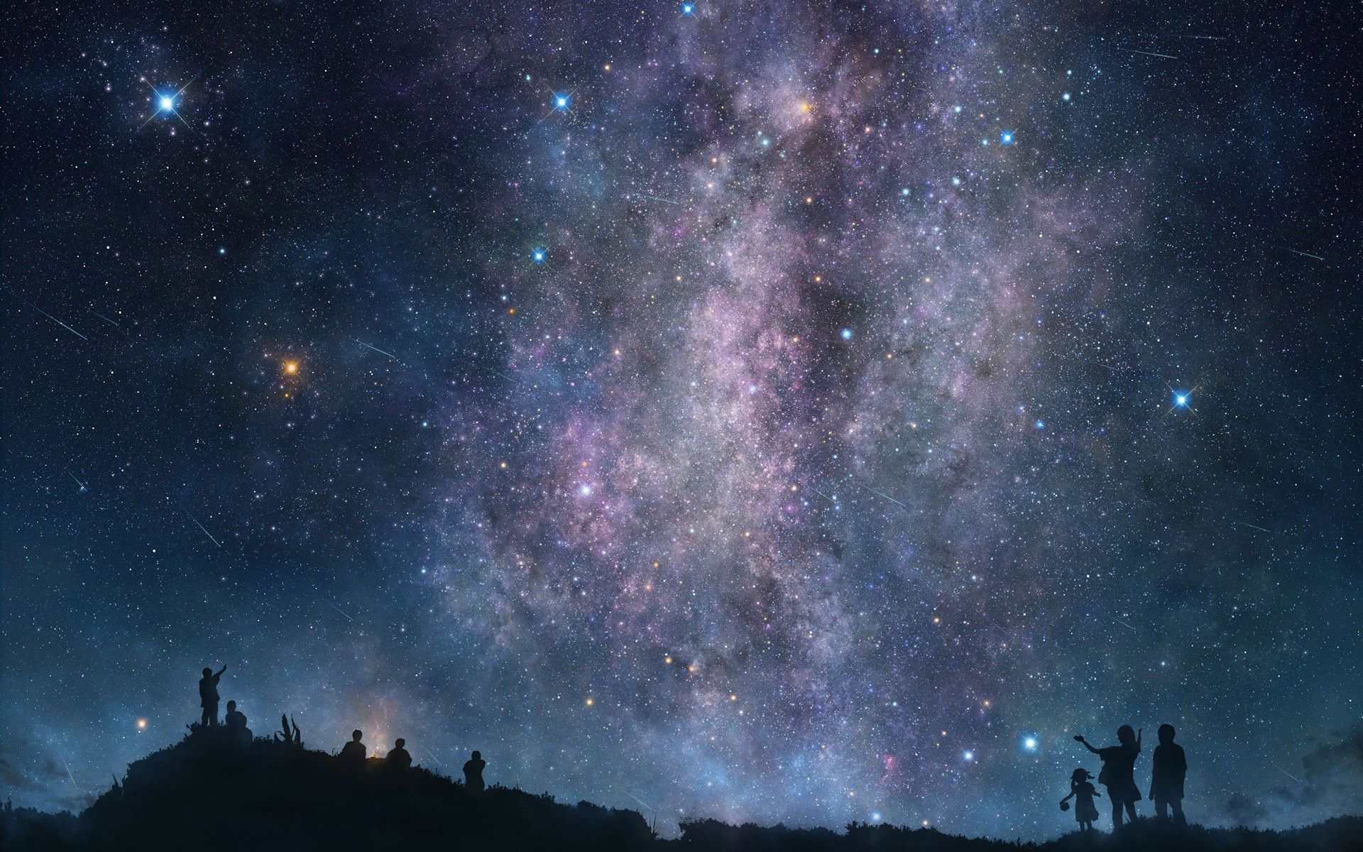 Night Sky Stars Computer Wallpaper