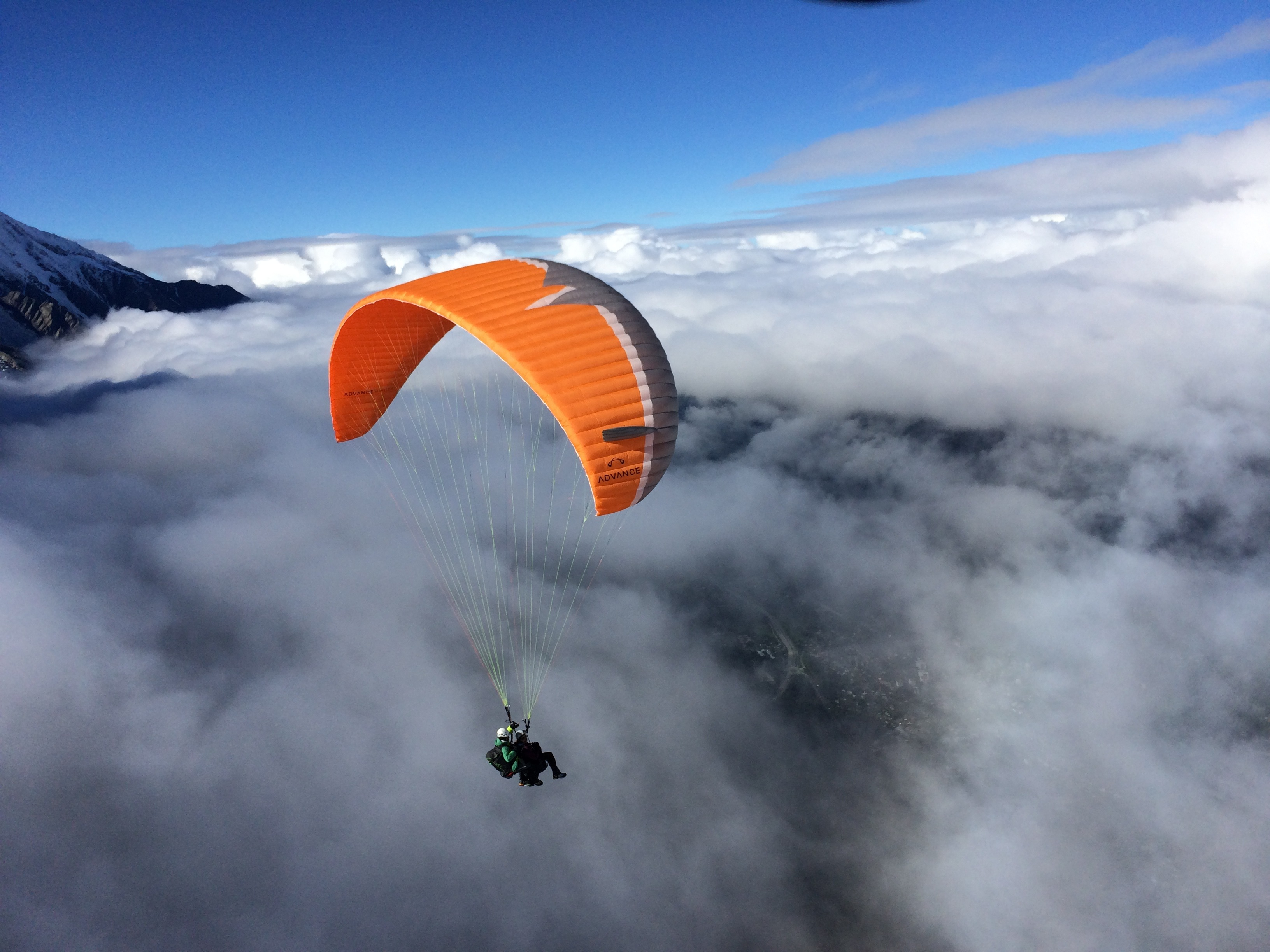 Paragliding Hd Background