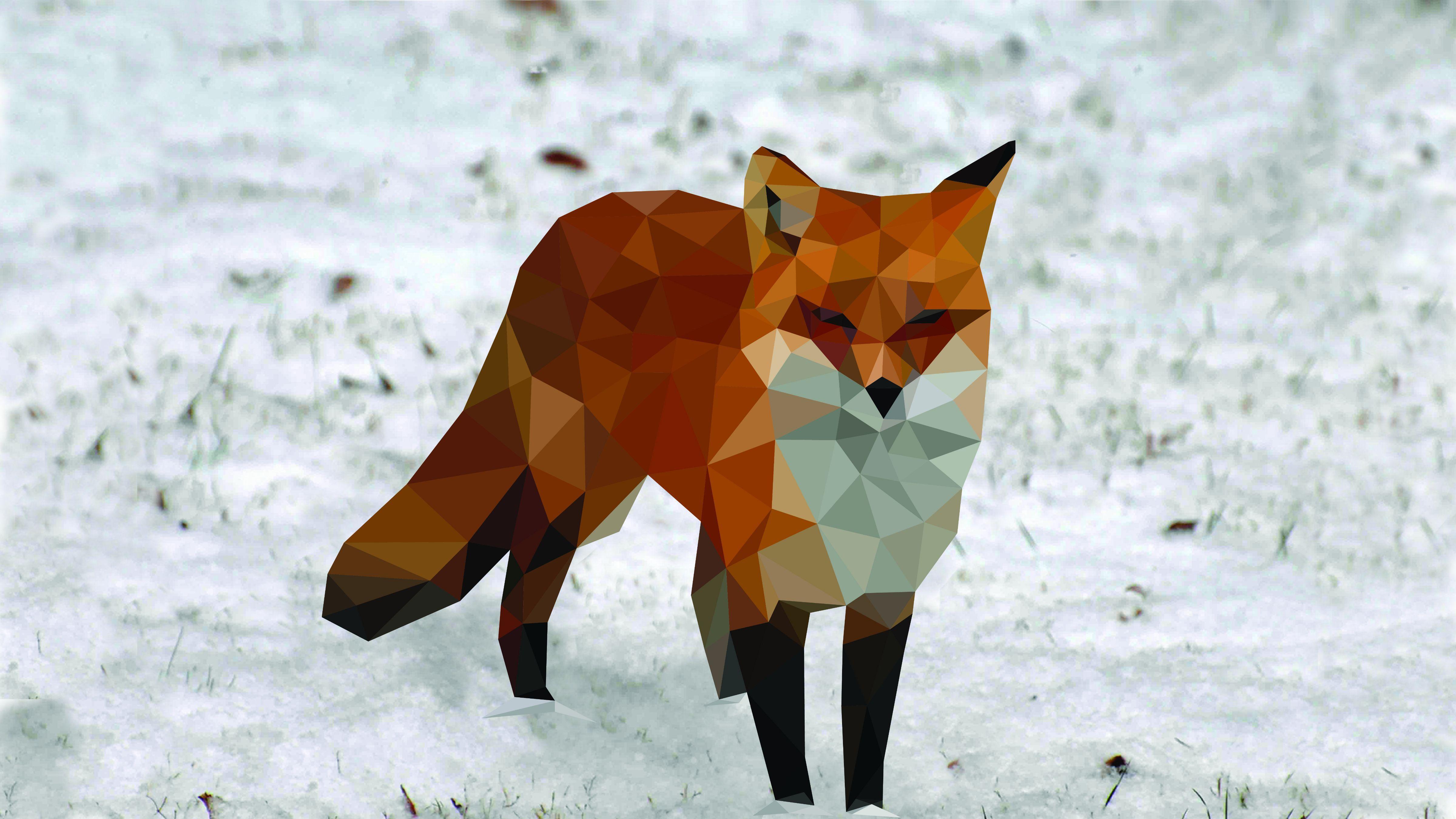 Polygon Fox Wallpapers