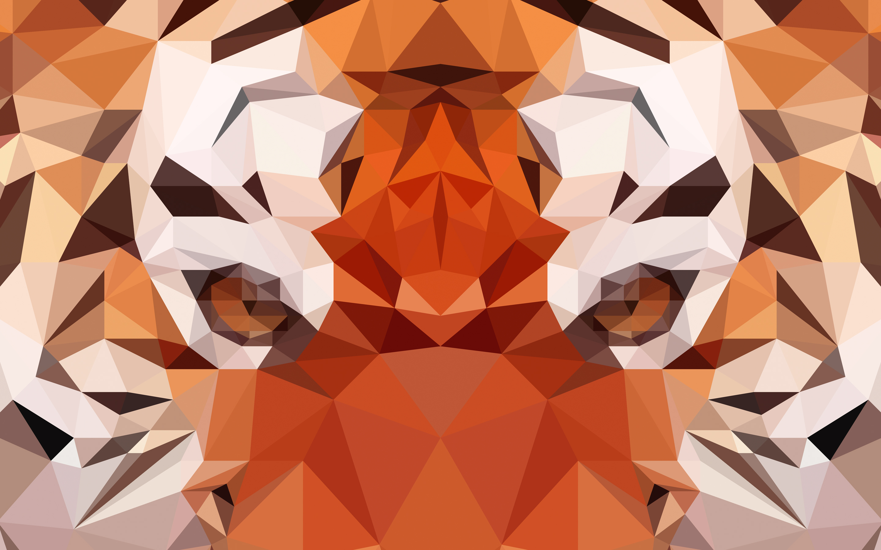 Polygon Tiger High Definition Wallpapers
