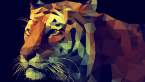 Polygon Tiger Widescreen