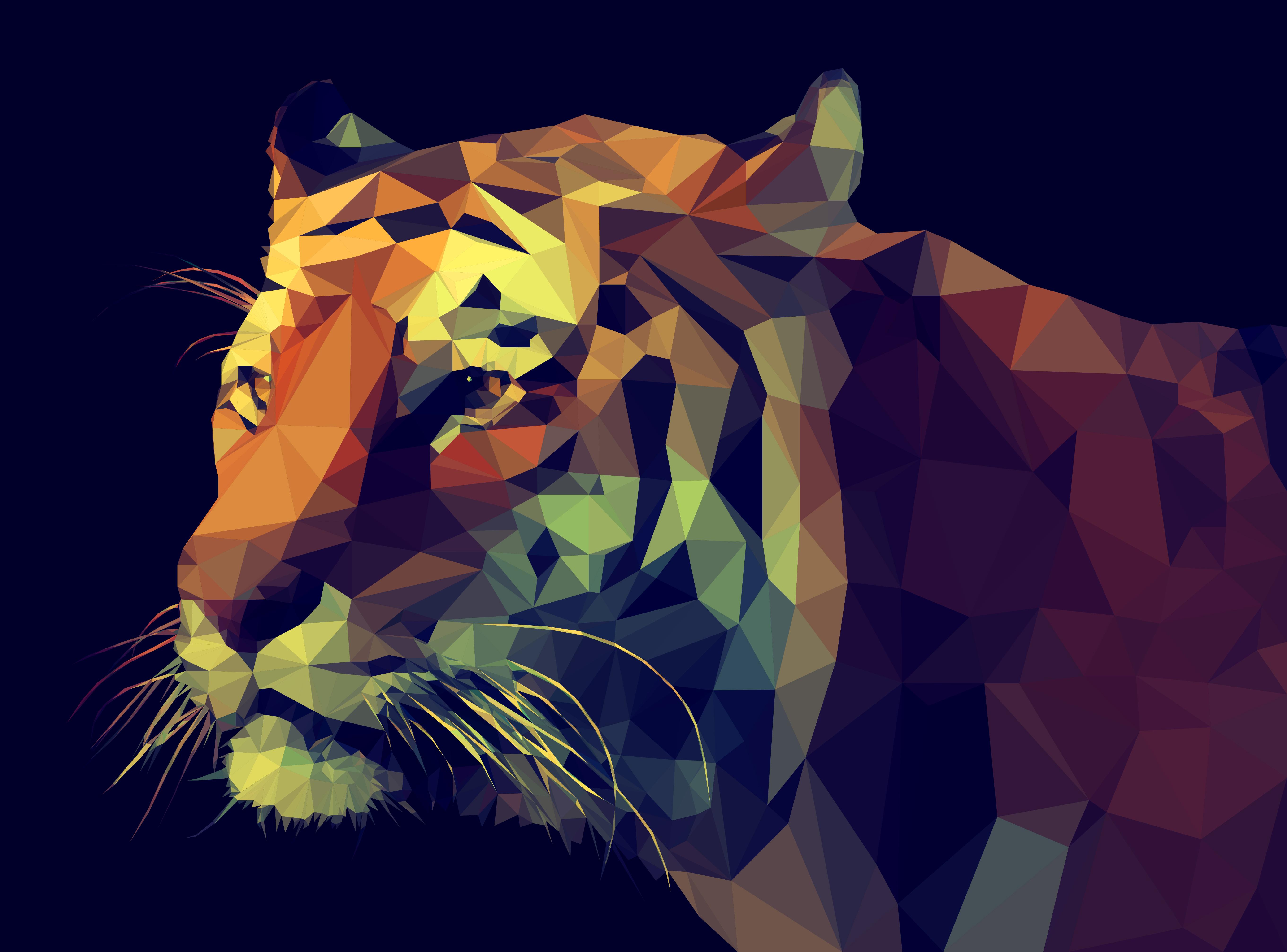 Polygon Tiger Widescreen