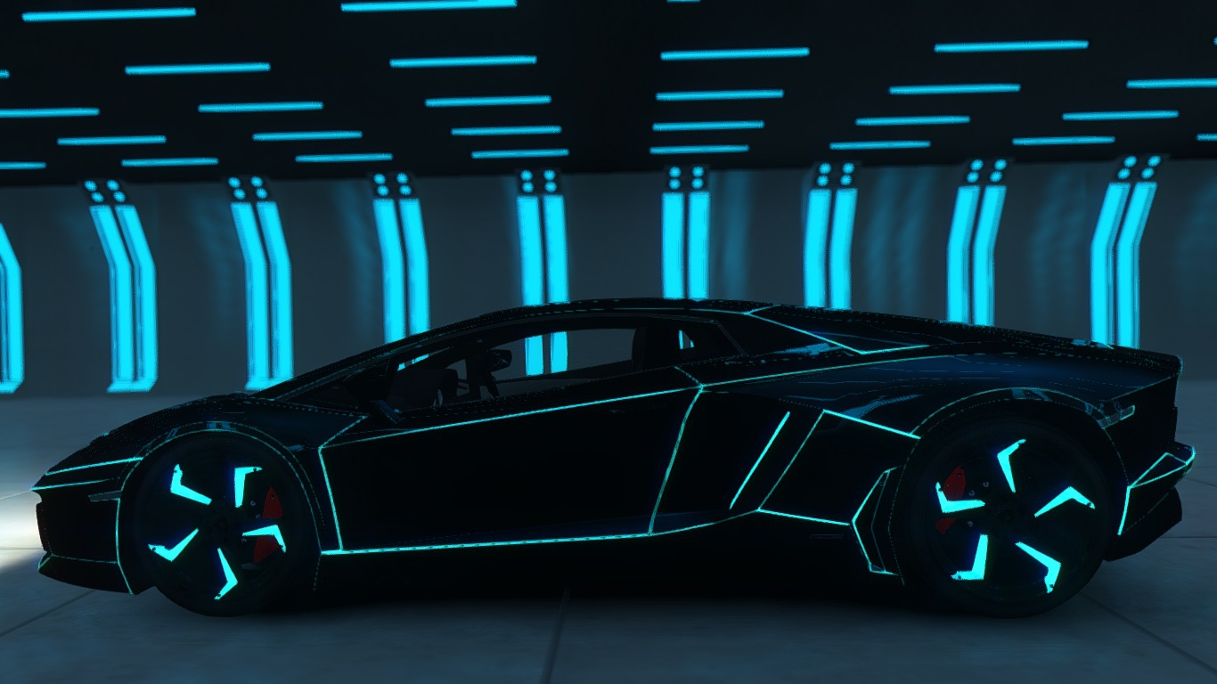 Tron Lamborghini Aventador Wallpapers Hd