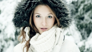 Winter Girl Background