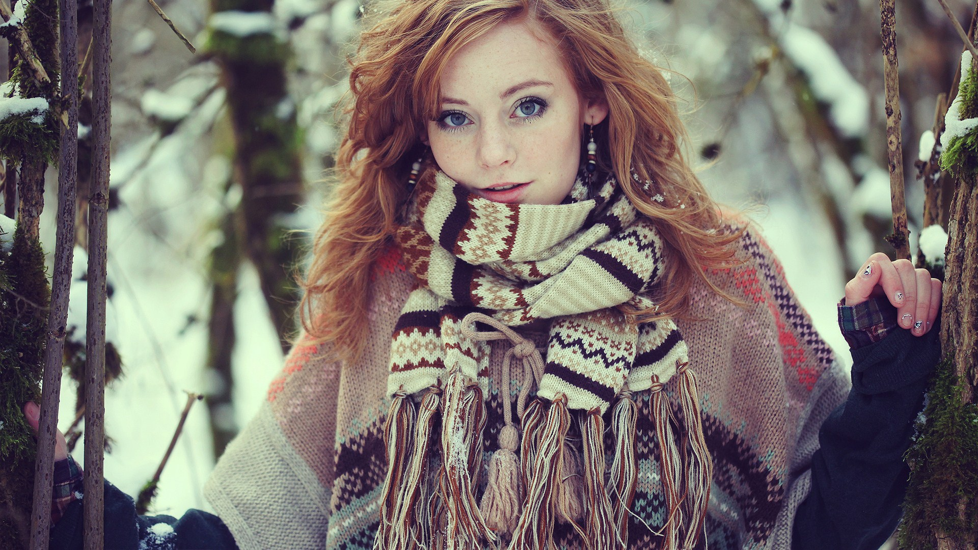Winter Girl High Definition Wallpapers
