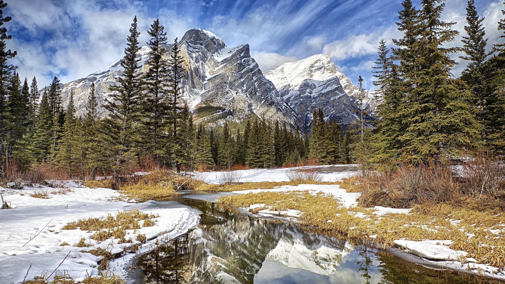 Winter Mountains Hd Desktop