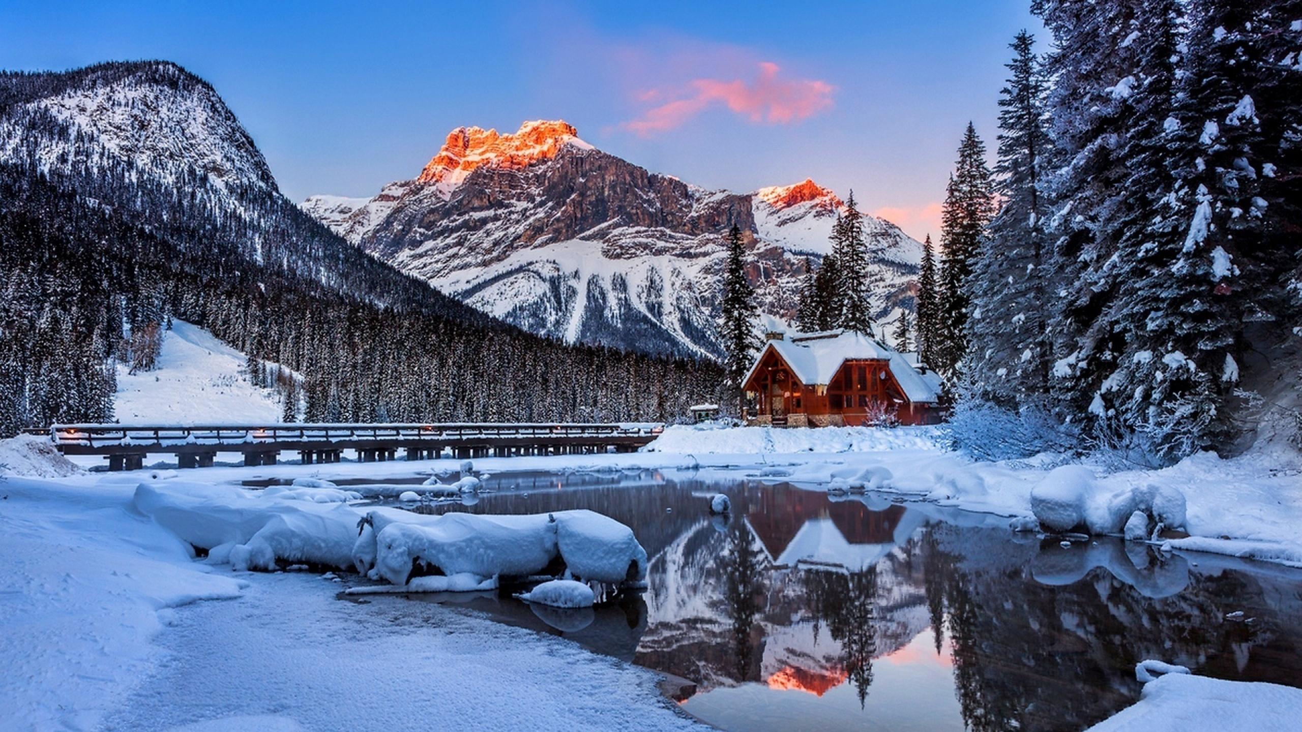 Winter Mountains Hd Wallpaper