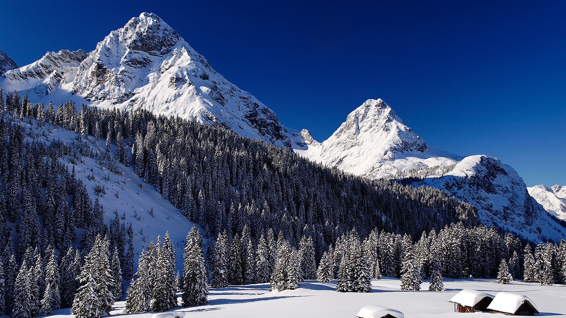 Winter Mountains Wallpapers Hd