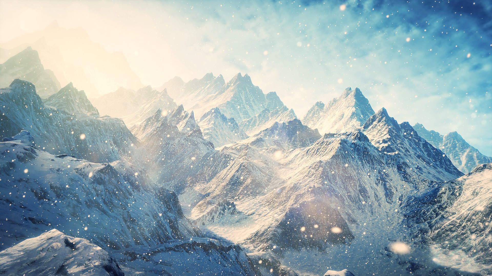 Winter Mountains Widescreen
