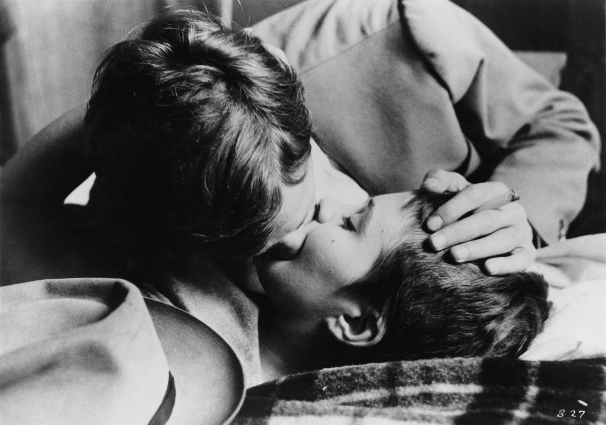 American Actress Jean Seberg 1938 1979 As Patricia Franchini And French Actor Jean Paul Belmondo As Michel Poiccard In A Love Scene From Breathless A Bout De Souffle Directed By Jean Luc Godar