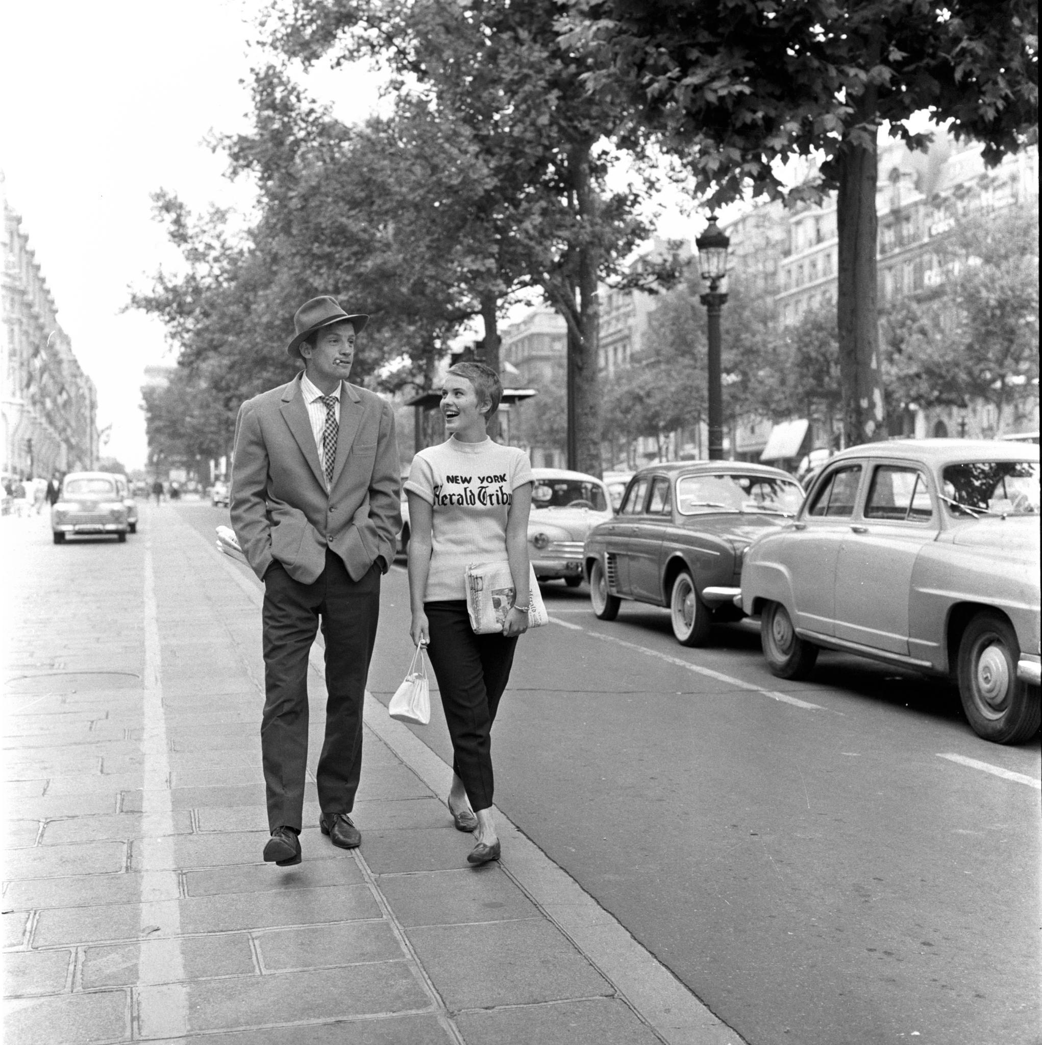 Still Of Jean Paul Belmondo And Jean Seberg In Breathless 1960 Large Picture