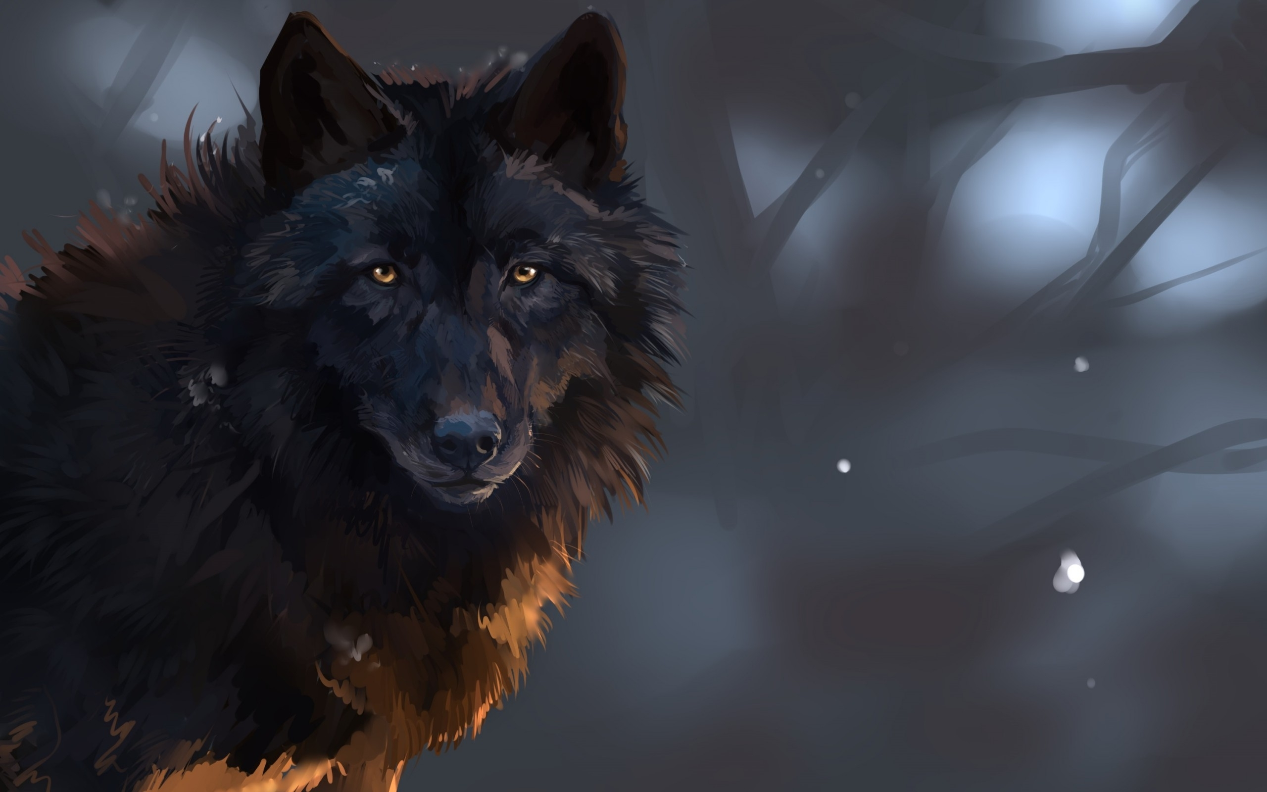 Black Wolf Poster   Animal Posters   Wolf Posters