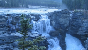Athabasca Falls At Dusk Computer Wallpaper