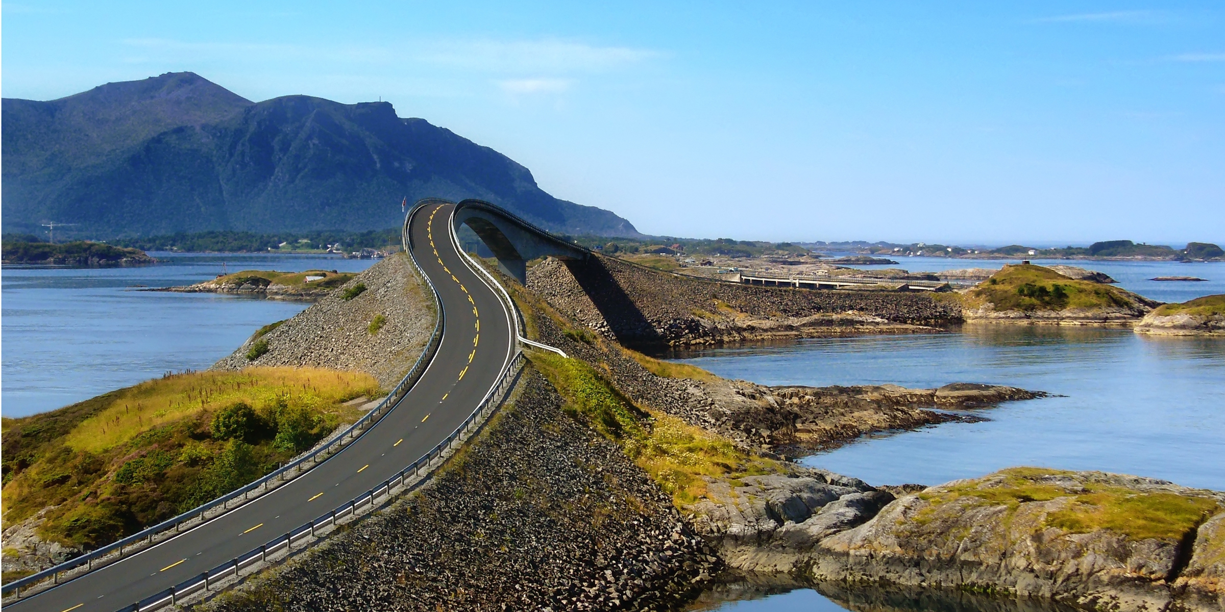 Atlantic Ocean Road In Norway Desktop