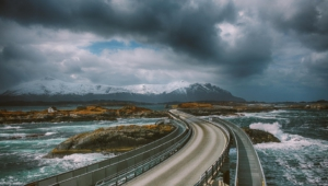 Atlantic Ocean Road In Norway Hd Wallpaper