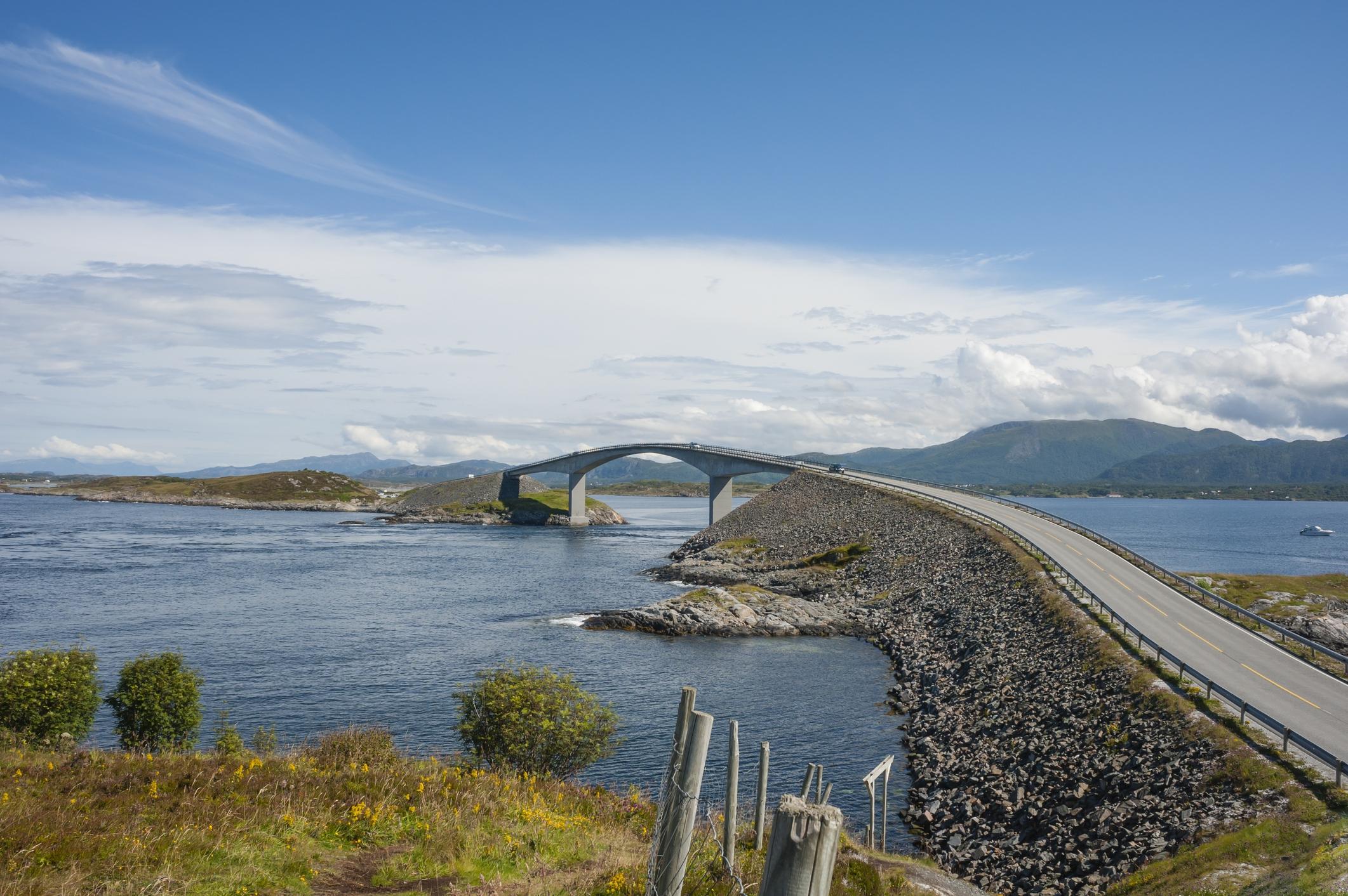 Atlantic Ocean Road In Norway Images