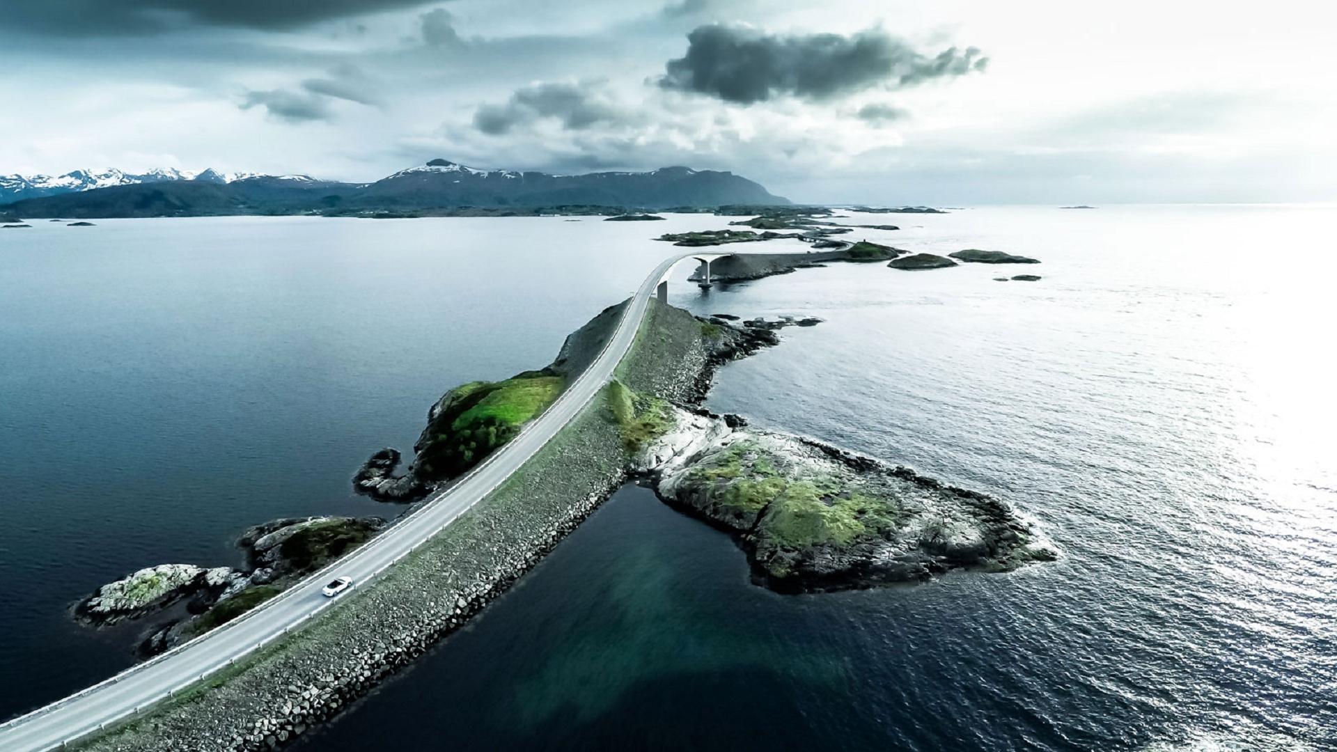 Atlantic Ocean Road In Norway Widescreen