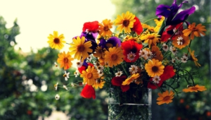 Flower Bouquet Hd Background