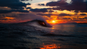 Ocean Sunset Hd Background