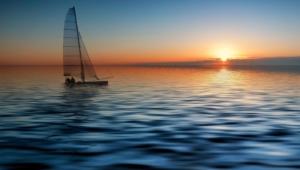 Ocean Sunset Hd Desktop