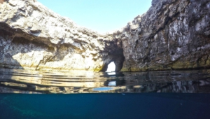 Sea Cave Malta Background