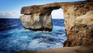 Sea Cave Malta Wallpaper