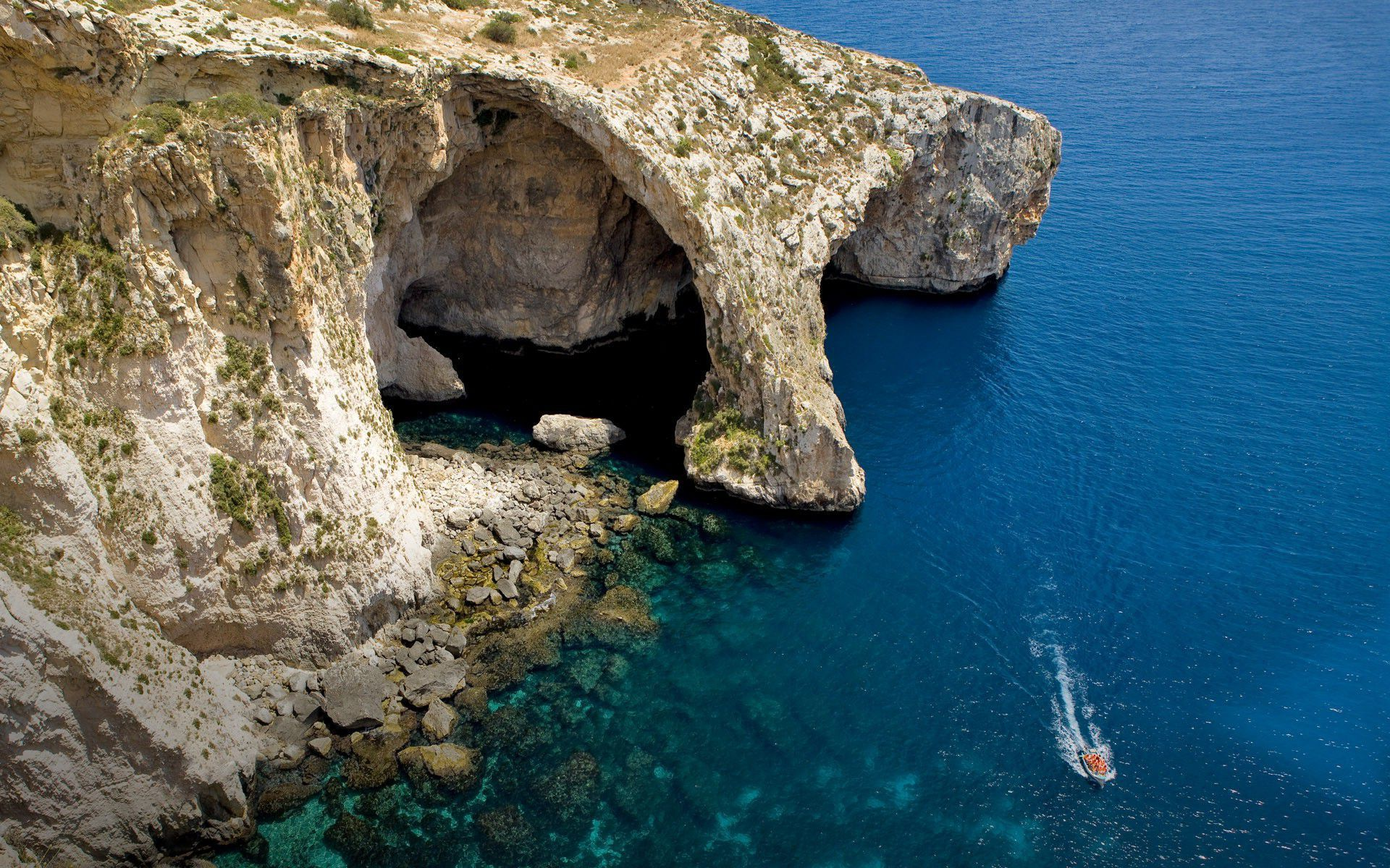 Sea Cave Malta Wallpapers Hd