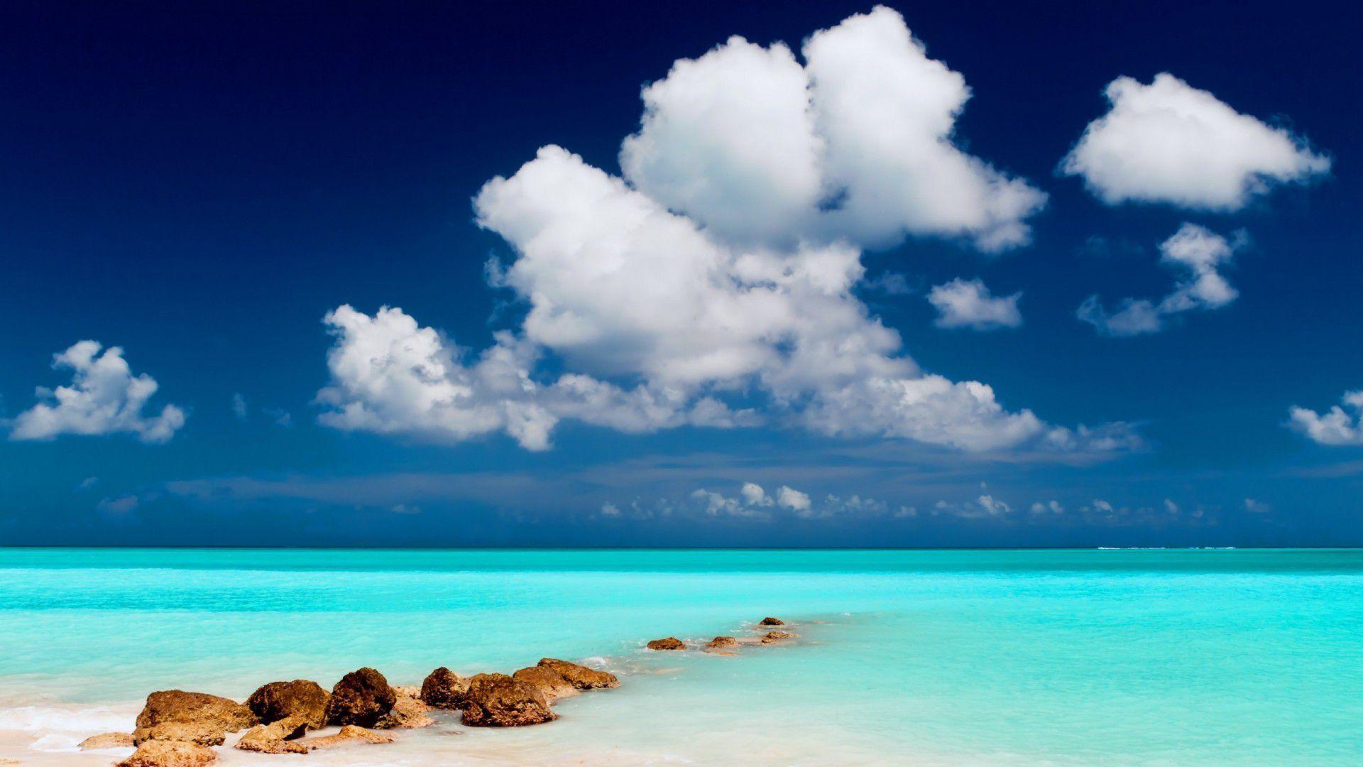 Turquoise Sea Hd Wallpaper
