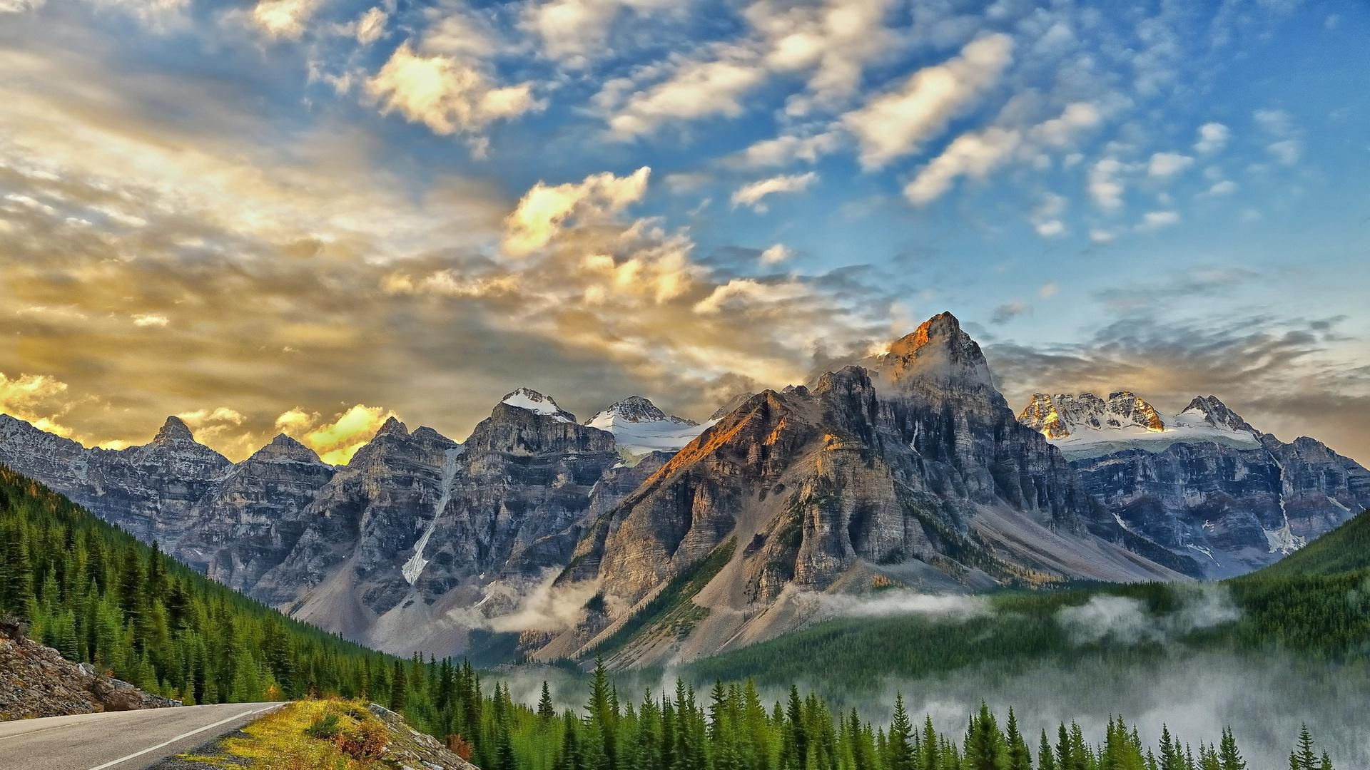 Valley Of Ten Peaks Hd Background
