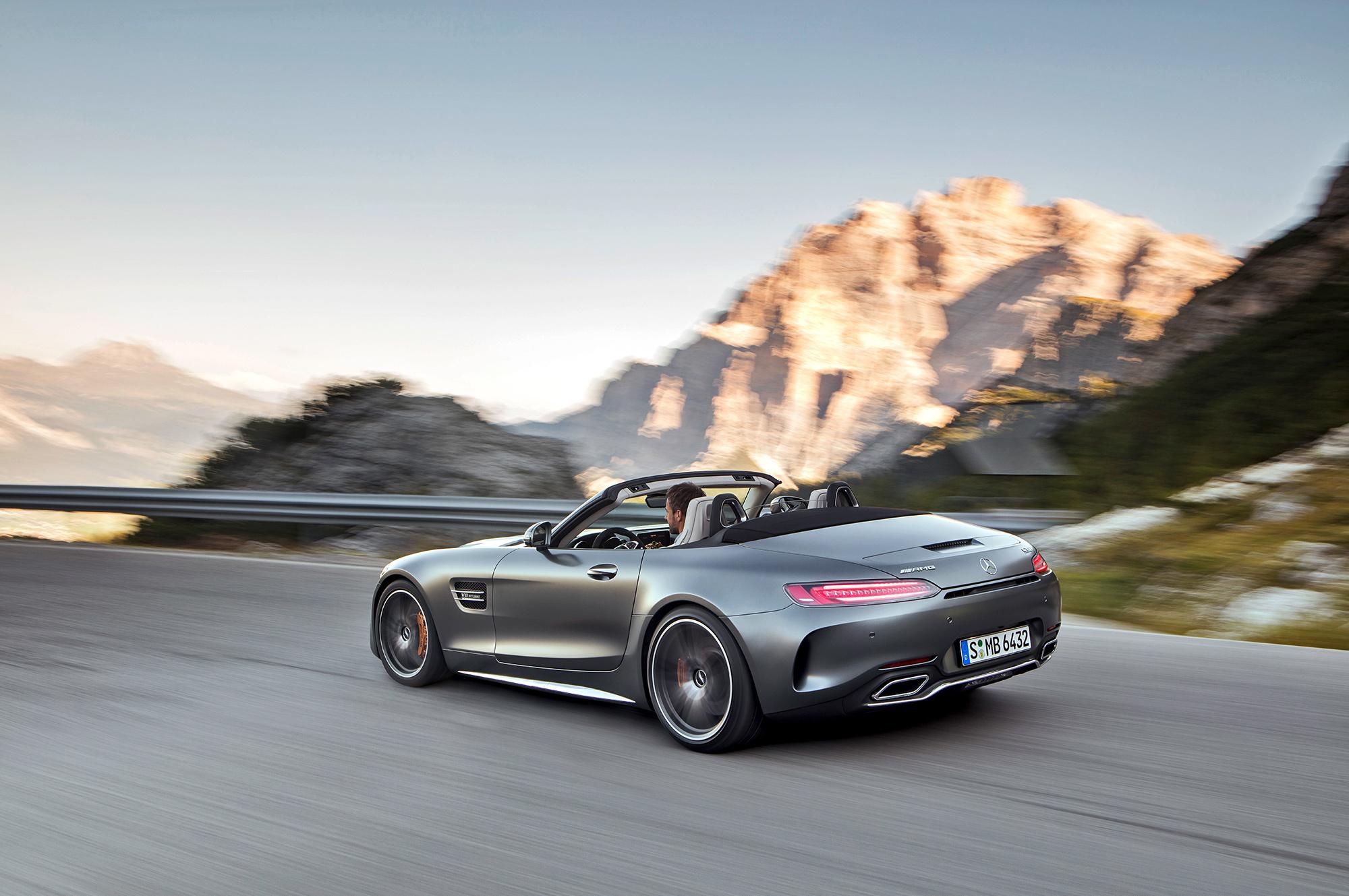 Mercedes AMG GT C Roadster 4K