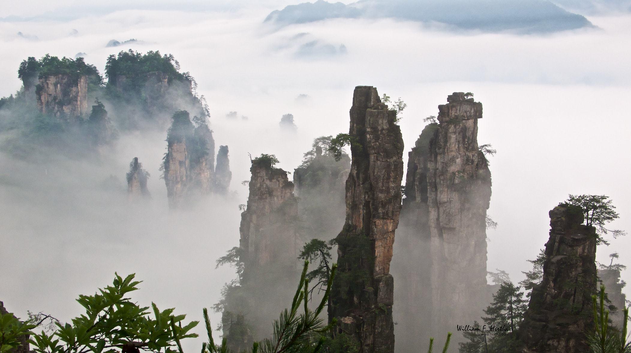Tianzi Mountain HD Desktop