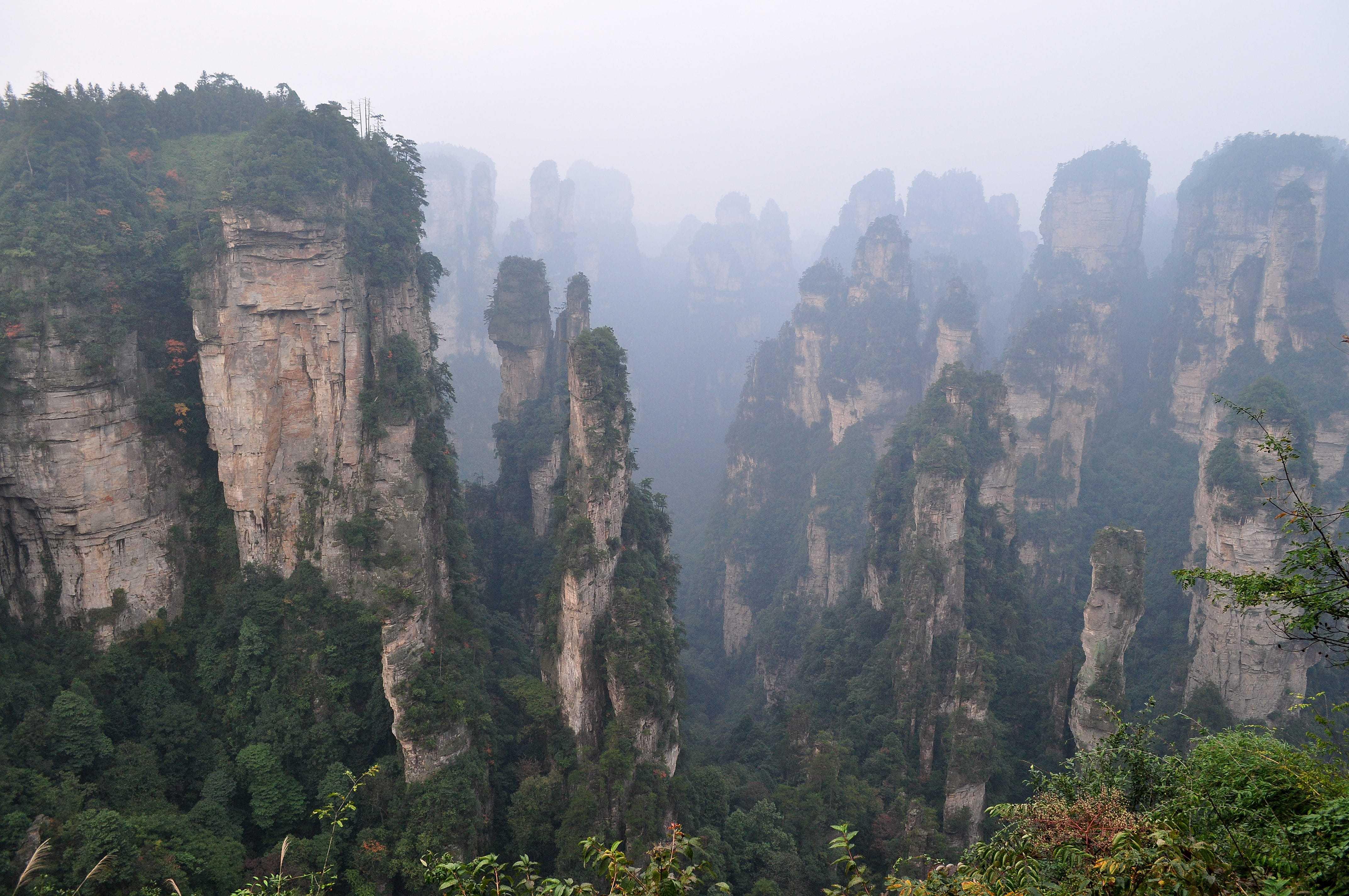 Tianzi Mountain HD Wallpaper