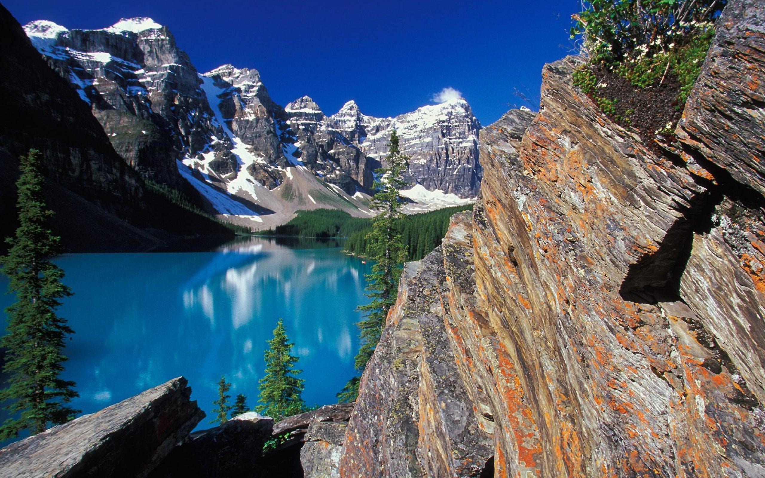 Glacier Lake Moiraine Computer Wallpaper