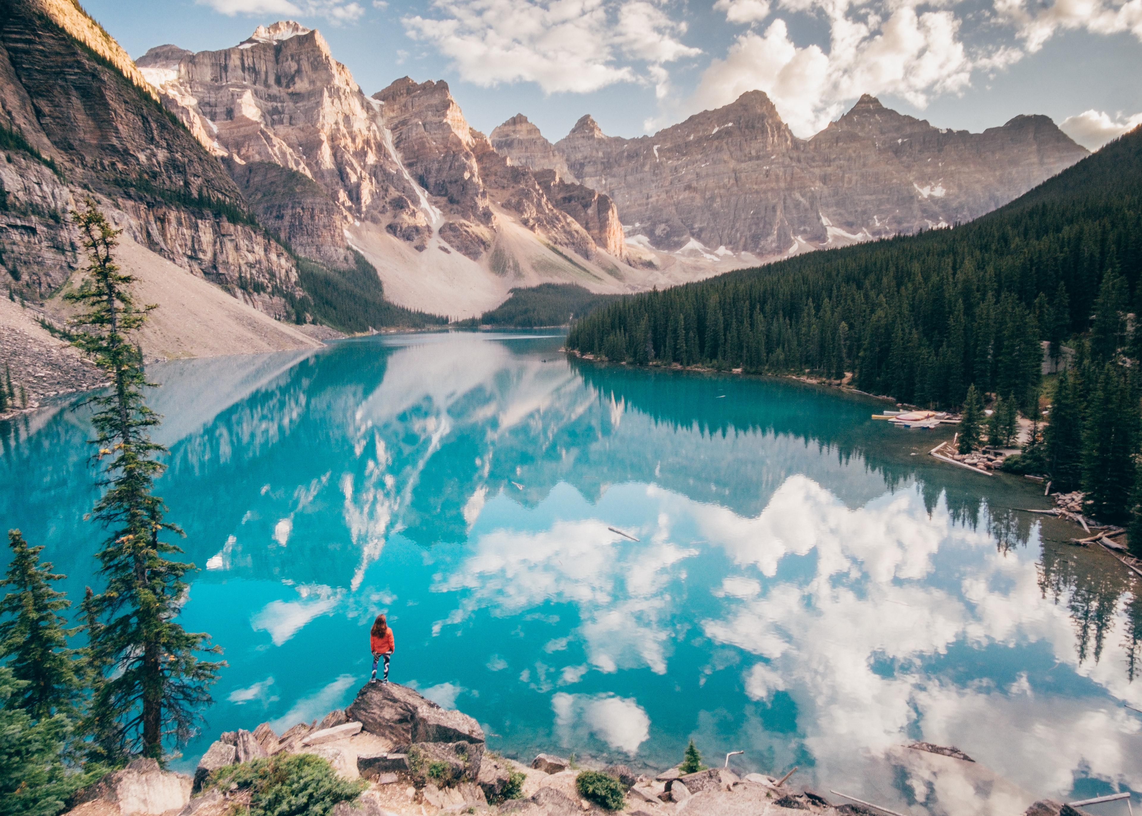 Glacier Lake Moiraine Wallpapers HD