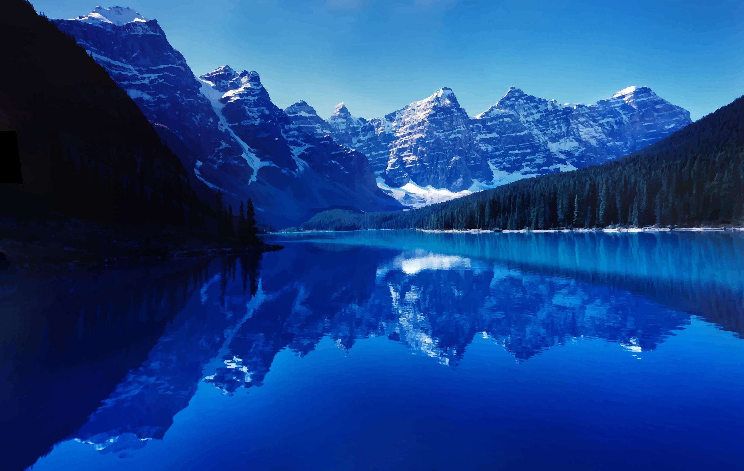 Glacier Lake Moiraine Widescreen