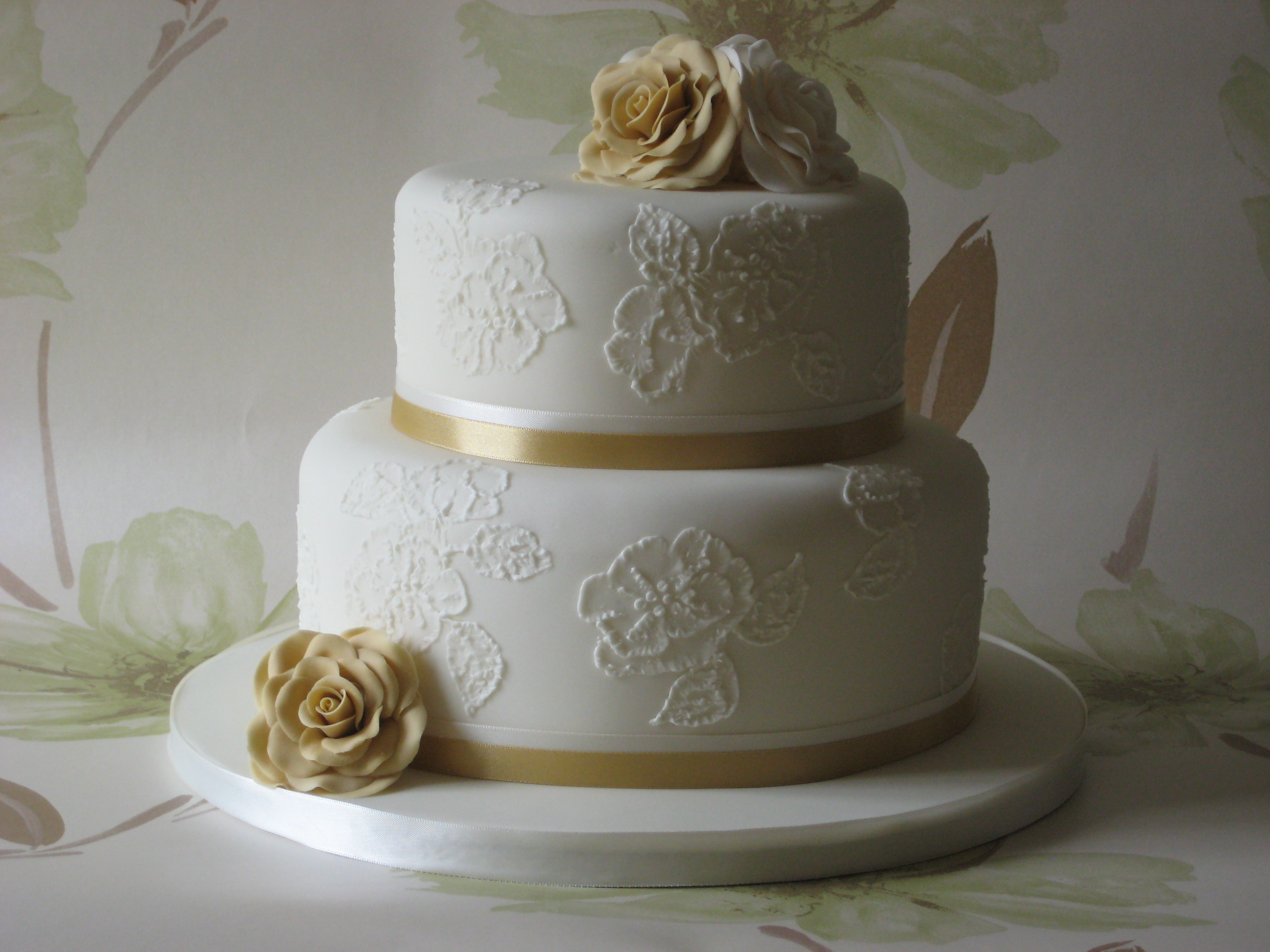 brush embroidery wedding cake designs ideas 1 - Wedding Cake Design Ideas
