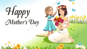 Vector Happy Mothers Day Card
