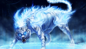 Anime Glowing Tiger