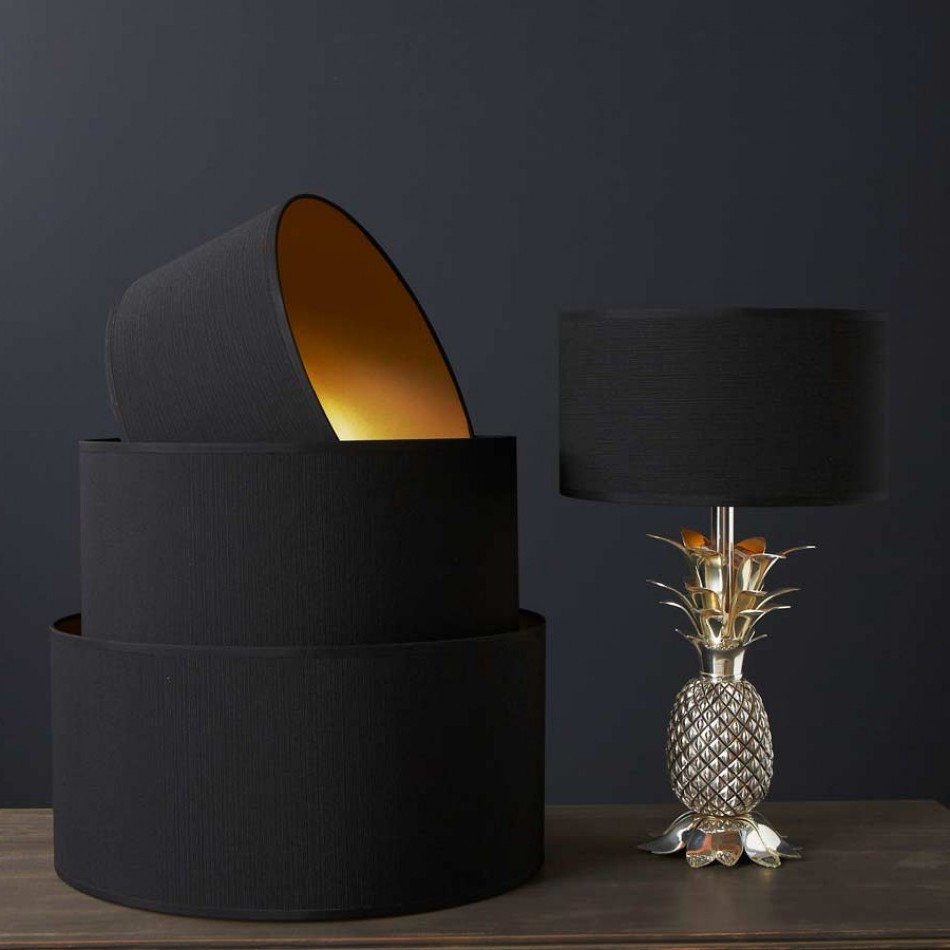 Black drum lamp shade gold lining images