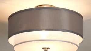 Black Drum Lamp Shade With Silver Lining