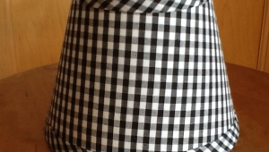 Gingham Lampshades