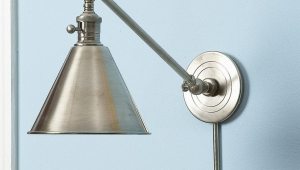 Nickel Colored Vintage Lamps